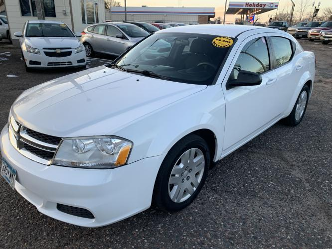 2014 Dodge Avenger SE (1C3CDZAB1EN) with an 2.4L L4 DOHC 16V engine, 4-Speed Automatic transmission, located at 434 West Main Street, Anoka, MN, 55303, (763) 576-9696, 45.201759, -93.396706 - Photo #0